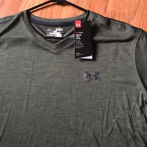 NEW Under Armour Loose Heat Gear Shirt XL Green